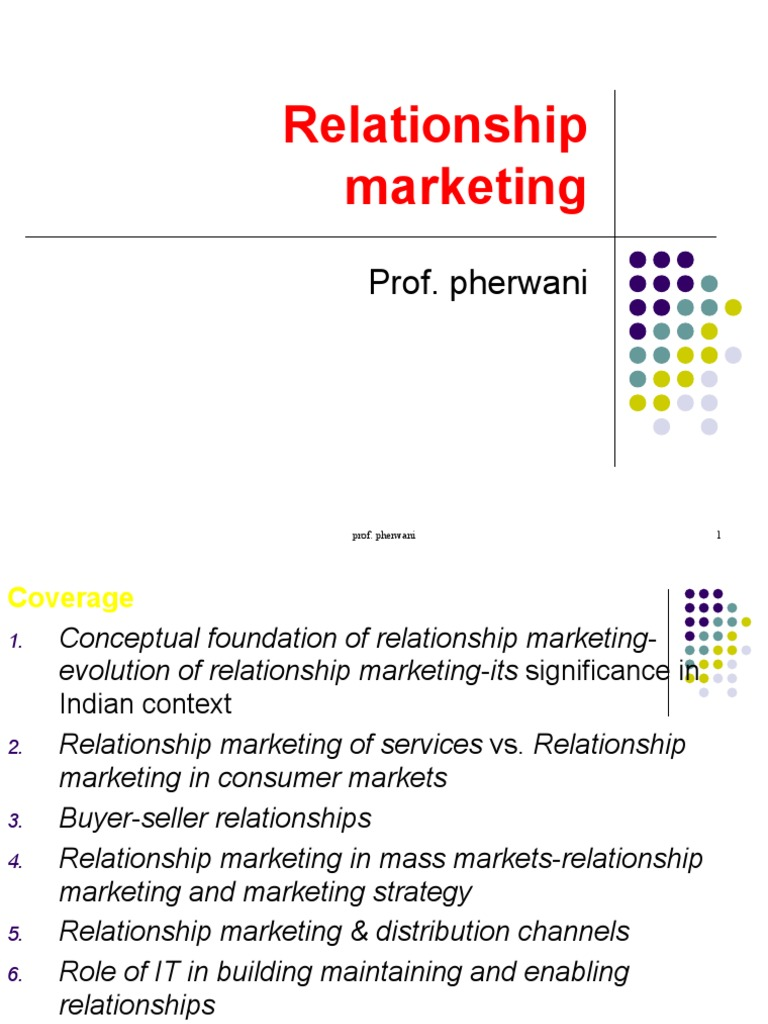 Relationship marketing | Marketing | Consumer Behaviour